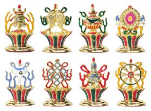 8-Aus. Symbols set Gold plated