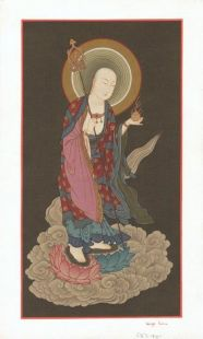 Ksitigarbha Hand Painted Thanka (S)