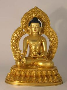 "Medicine Buddha 12""with Parwa"