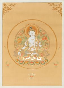 White Tara Hand Painted Thanka