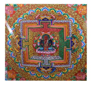 Longevity Buddha embroidered red