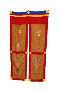 8 Auspicious Symbols Door Curtain