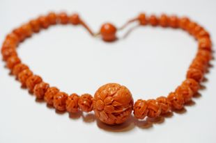 Victorian Period Coral Necklace