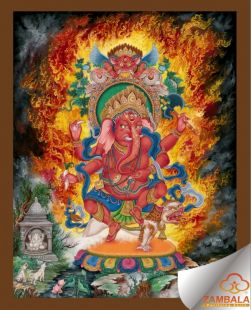 Ganesha Thanka (hand painted)