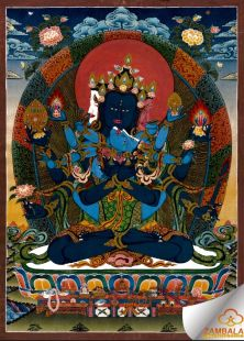 guhyasamaja hand painted thanka