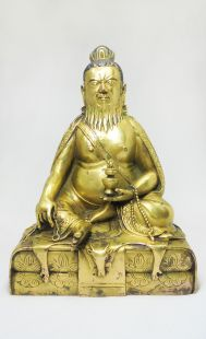 Thangtong Rinpoche. copper statue (18.5 cm)
