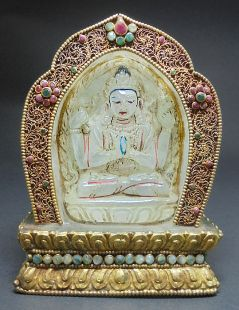 four arms Kuan Yin 11cm H (white crystal from Himalayas)