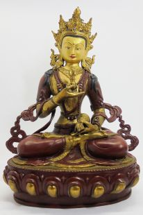 Vajrasattva (Red brass and gilt gold)