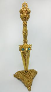3 face phurpa brass with stand