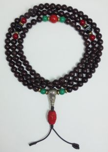 Brown Lotus seed mala